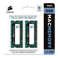 Corsair Apple Memory 8GB (2x4GB) DDR3 1066MHz CL7 SODIMMs (CMSA8GX3M2A1066C7)