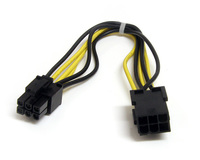 StarTech 6 pin PCI Express Power Extension Cable - 8 Inch (PCIEPOWEXT)