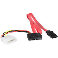 StarTech Slimline SATA to SATA with LP4 Power Cable Adapter - 20in (SLSATAF20)