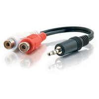 Cables To Go Value Series Audio Y-Cable Mini-phone Male Stereo to RCA Female Stereo Black (40422)