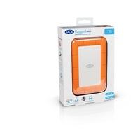 """LaCie Rugged Mini 1TB 2.5"""" External Hard Drive Orange USB3.0 (LAC301558)"""