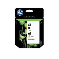 HP 61 Black & Tri-colour Original Ink Cartridges, 2 pack (CR259FN)