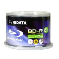 Ridata BD-R 25G 6X  Hub Printable 50Packs Spindle(BDR-256-RDIWN-CB50)