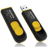 ADATA DashDrive UV128 16GB Retractable USB 3.0 Flash Drive - Black/Yellow Upto 40MB/s Read, 15MB/s Write (AUV128-16G-RBY)