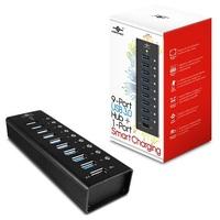 Vantec UGT-AH900U3-1C, 9 Port USB 3.0 Aluminum Smart Charging Hub