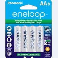PANASONIC Eneloop AA 2000mAh NiMH Rechargeable Battery 8 Pack (BK3MCCA8BA)