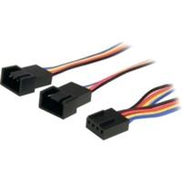 StarTech 12in 4 Pin Fan Power Splitter Cable - F/M (FAN4SPLIT12)