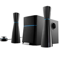 EDIFIER M3200 2.1 Multimedia Speaker System, Hourglass design, Magnetically shielded subwoofer with 5½ inch driver, Wired Remote Control