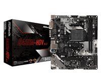 ASRock B450M HDV R4.0 AMD AM4 Socket | Dual Channel, PCIe 3.0, M.2 | USB 3.1, DVI-D, HDMI, D-Sub, mATX Motherboard