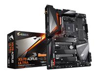 GIGABYTE X570 AORUS ULTRA Motherboard with 12+2 Phase IR Digital VRM, Fins-Array Heatsink & Direct Touch Heatpipe, Triple PCIe 4.0 M.2 with Thermal Guards, Intel® WiFi 6 802.11ax, Intel® GbE LAN with cFosSpeed, USB Type-C, RGB Fusion 2.0