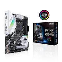 ASUS PRIME X570-PRO AMD AM4 ATX motherboard with PCIe 4.0, 14 DrMOS power stages, dual M.2, HDMI, SATA 6Gb/s, USB 3.2 Gen 2 front-panel connector and Aura Sync RGB lighting