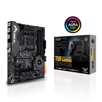 ASUS TUF GAMING X570-PLUS AMD AM4 X570 ATX gaming motherboard with PCIe 4.0, dual M.2, 14 Dr. MOS power stages, HDMI, DP, SATA 6Gb/s, USB 3.2 Gen 2 and Aura Sync RGB lighting