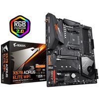 GIGABYTE X570 AORUS ELITE WIFI Motherboard with 12+2 Phase Digital VRM with DrMOS, Advanced Thermal Design with Enlarged Heatsink, Dual PCIe 4.0 M.2 with Single Therma Guard, Intel® GbE LAN with cFosSpeed, Intel® Dual Band 802.11ac Wireless, Front USB Type-C, RGB Fusion 2.0