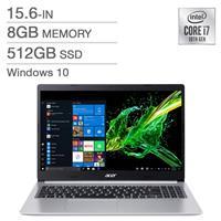 "Acer Aspire 5 (Refurbished) Notebook   15.6"" FHD Intel i7-10510U   8GB DDR4, 512GB SSD, Intel UHD 620 graphics   Windows 10 Home, A515-54-74LM (RNB-NX.HNAAA.006)"