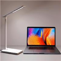 ICAN LED Desk Lamp (48 LED) with Wireless charge | Smart Touch Control Pad, Aluminum Frame, | Includes USB power adapter, (White)
