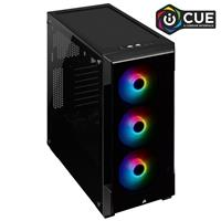 CORSAIR iCUE 220T RGB Tempered Glass Mid-Tower Smart Case, Black