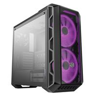 Cooler Master H500  tempered glass panel, two 200mm RGB fans with Controller ATX Mid-Tower Case (MCM-H500-IGNN-S00)