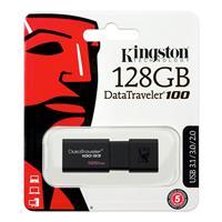 KINGSTON DataTraveler 100 G3 128GB USB 3.0 Flash Drive Up to 100 MB/s Read (DT100G3/128GBCR)