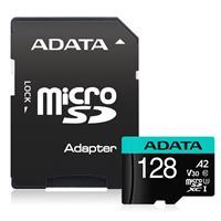 ADATA Premier Pro 128GB microSDXC UHS-I U3 V30S A2  w/Adapter Upto 100MB/s Read, 80MB/s Write(AUSDX128GUI3V30SA2-RA1)