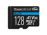 Team Group Elite A1 128GB microSDXC 4K UHD UHS-I U3 V30 A1 High Speed Flash Memory Card UP to 90MB/s Read, 45 MB/s Write (TEAUSDX128GIV30A103)