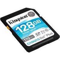 Kingston Canvas GO! Plus 128GB SDXC Class 10, UHS-I, U3, V30, Up to 170MB/s Read, 90MB/s Write (SDG3/128GBCR)