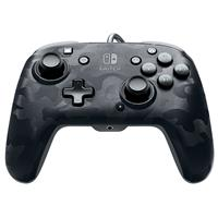 PDP Faceoff Deluxe+ Audio Wired Controller - Officially Licensed by Nintendo - Black Camo