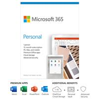Micorsoft 365 Personal 1-Year Subscription 1 Person - PC/Mac - English - no Disc  (QQ2-01024)