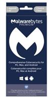 MALWAREBYTES Premium 1-User 1-Year Tech Edition - Activation Key Code - no Disc - for PC/Mac/Android English/French - in Sleeve Packaging (MAL951800F137)