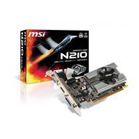 MSI GeForce 210 1GB DDR3 (N210-MD1G/D3)   589 MHz Clock, 1000 MHz Memory   PCI Express 2.0, DVI, D-Sub, HDMI