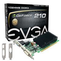 EVGA GeForce GT 210 1GB DDR3 (01G-P3-1313-KR) | 520MHz Clock, 1200MHz Memory | PCI Express 2.0, DVI, VGA, HDMI