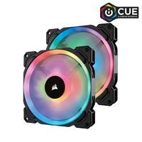 CORSAIR LL Series, LL140 RGB, 140mm Dual Light Loop RGB LED PWM Fan, 2 Fan Pack with Lighting Node PRO (CO-9050074-WW)