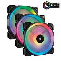 CORSAIR LL Series, LL120 RGB, 120mm Dual Light Loop RGB LED PWM Fan, 3 Fan Pack with Lighting Node PRO (CO-9050072-WW)