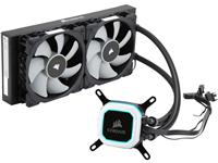 Corsair Hydro Series, H100i PRO, 240mm Radiator, Advanced RGB Lighting and Fan Control with Software, Liquid CPU Cooler (CW-9060033-WW)