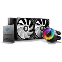 DEEPCOOL Castle 240 RGB V2 240mm All-in-One Liquid CPU Cooler with Anti Leak Tech,Addressable RGB Waterblock and Fans, Cable and Motherboard Control Supported, TR4 and AM4 Compatible, 3-Year Warranty, Black