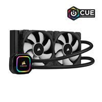CORSAIR iCUE H100i RGB PRO XT, 240mm Radiator, Dual 120mm PWM Fans, Software Control, Liquid CPU Cooler