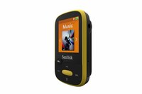 SANDISK 8GB Clip Sport MP3 Player (Yellow) | Color LCD Screen | FM Tuner | Plays MP3, AAC, WAV, FLAC, and More | Up to 25 Hours of Audio Playback