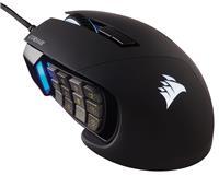 Corsair Scimitar RGB Elite, MOBA/MMO Gaming Mouse, Black, Backlit RGB LED, 18000 DPI, Optical (CH-9304211-NA)