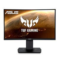 "ASUS TUF Gaming VG24VQ 23.6"" Curved Monitor, 1080P Full HD (1920 x 1080), 144Hz, FreeSync, 1ms, Extreme Low Motion Blur (ELMB), Eye Care, DisplayPort Dual HDMI"