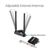 ASUS (PCE-AX58BT) AX3000  Next-Gen WiFi 6 Dual Band PCIe Wireless Adapter with Bluetooth 5.0 - OFDMA, 2x2 MU-MIMO and WPA3 Security