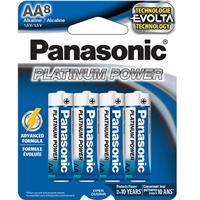 PANASONIC Platinum Power AA Alkaline Battery 8 Pack (LR6XE8B)
