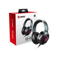 MSI Immerse GH50 Headset, 2.0 USB Audio Jack, 7.1 Surround sound and Vibration, Sturdy Metal and foldable, RGB Mystic Light  (Immerse GH50)