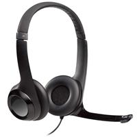 Logitech H390 Stereo Headset - Comfortable Design, Noise-Canceling Mic, In-Line Audio Controls, Digital USB (981-000014) (A)