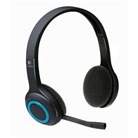 Logitech H600 Wireless Headset with Nano Receiver | Noise-Canceling Microphone (981-000341)