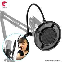 Yanmai Dual-layer Recording Broadcasting Microphone Studio Wind Screen Pop Filter Mask Shield (PS-1)