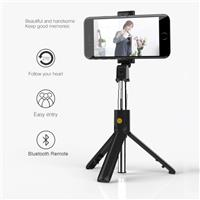 iCAN 3-in-1 Selfie Sticks with Built-in Mini Tripod Stand   Bluetooth Remote Control