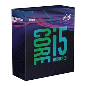 Intel Core i5-9600K Coffee Lake 6-Core/6-Thread Processor Socket LGA 1151, 3.7 GHz Base/ 4.6 GHz Max Turbo Frequency 95W Gen9 Retail Boxed Unlocked (BX80684