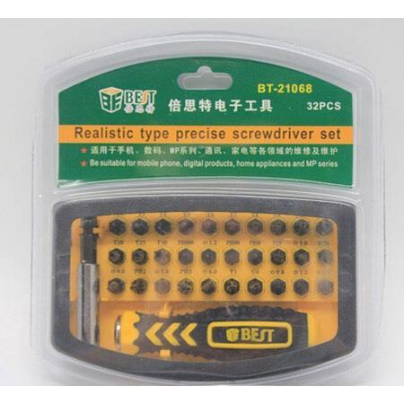 Best 32 in 1 Realistic Type Precise Screwdriver Set (BT-21068)