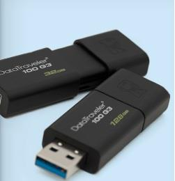 Kingston 128GB USB 3.0 DataTraveler 100 G3 flash drive