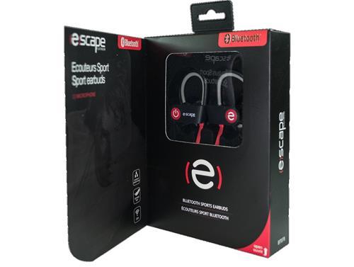 (E)SCAPE BT-078 - Bluetooth Sports Earphones, Hands Free