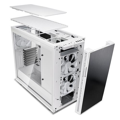 Fractal Design Define R6 USB-C White Brushed Aluminum//Steel ATX Silent Modular M